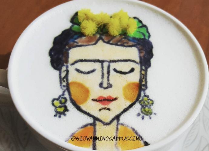 giovanninocappuccino-latte-art-frida-khalo