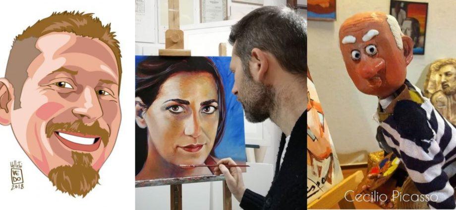 Domenico Velletri collage opere